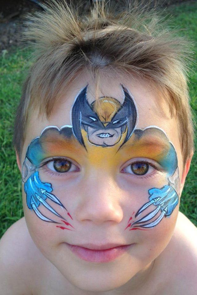 Wolverine face paint
