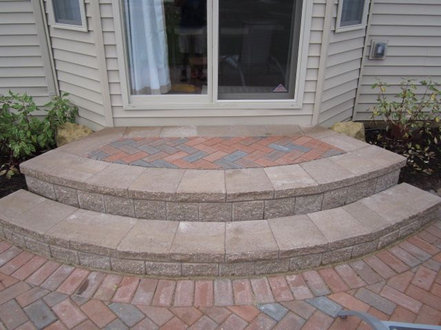 Exceptional Proper Paver Steps For Bay Windows