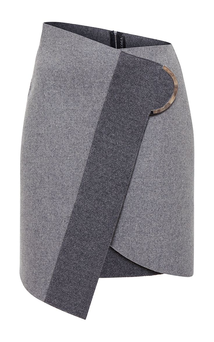Wrap Wool Skirt by DAVID KOMA for Preorder on Moda Operandi