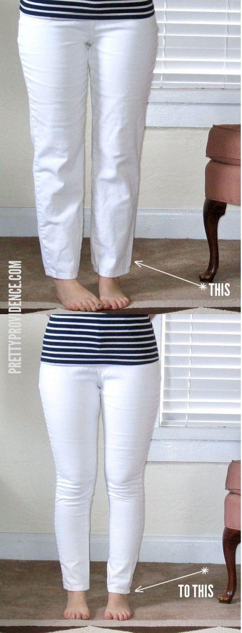Super fácil tutorial sobre cómo convertir los pantalones vaqueros de la mamá en jeans ajustados que se ajustan perfectamente! He hecho esto con como 4 pares de pantalones vaqueros Segunda mano ahora .. me encanta!