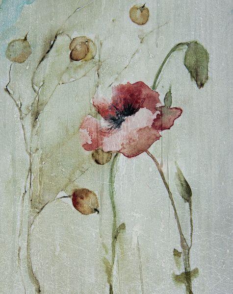 poppy Art Print by annemiek groenhout | Society6