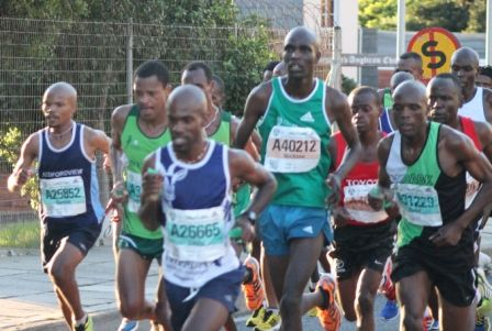 David Gatebe OMTOM2013 winner, followed closely by Nicksen Kipketer, Collen Makaza and Munya Jari