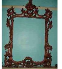 One Off Solid Plaster Mirror Frame With Rebate At Back Rococo Style Extra Large