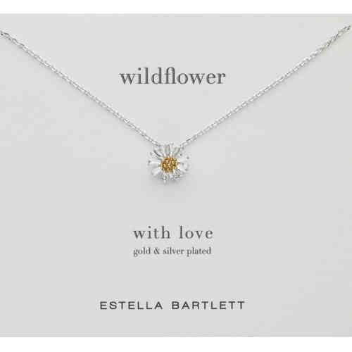 Estella Bartlett Silver And Gold Daisy Necklace £14.99 * At Pink Cadillac www.pinkcadillac.co.uk