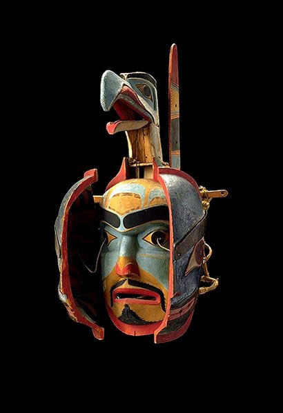 Transformation mask (open), Haida Gwaii (Canada), 19th century