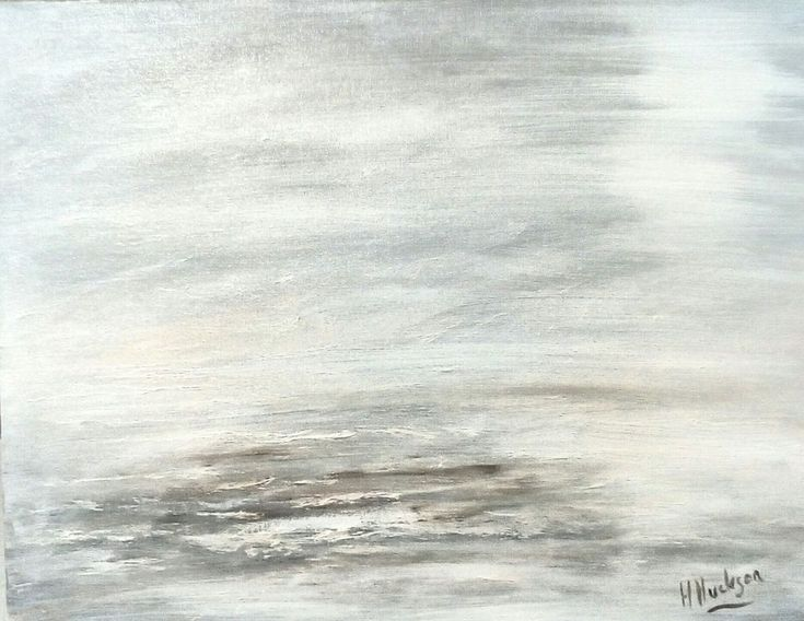 """'The beach' Original Abstract Oil Painting 18"""" x14 """""""