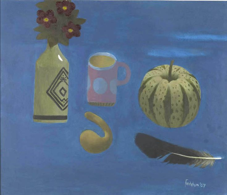 Mary Fedden   Pink and Blue Mug