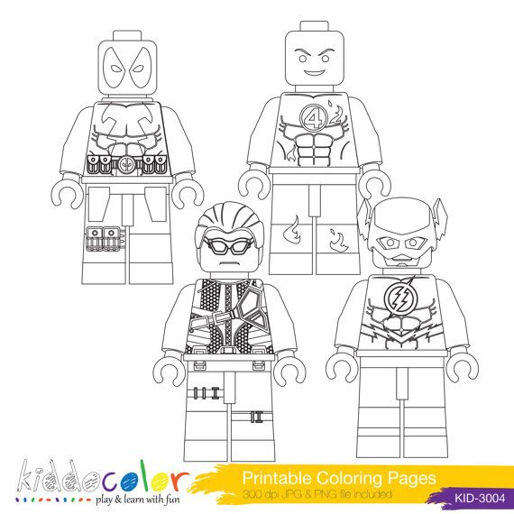 Printable Hero Lego Coloring Pages Digital Stamp 4