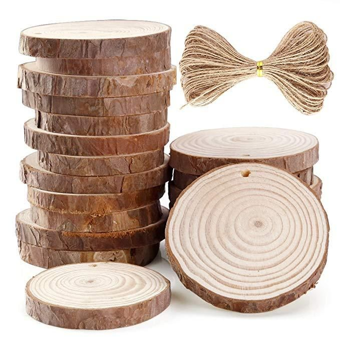Making Natural Home Ornaments Round Wood Pieces Wooden Slice Wood DIY Crafts