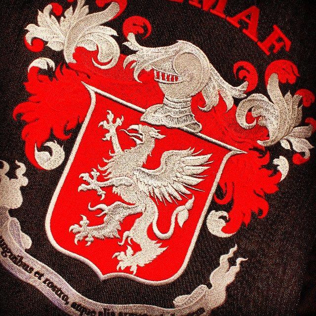 Traditional European Martial Arts Federation - TEMAF #temaf #traditionaleuropeanmartialartsfederation #arms #coatofarms #coa #gerbonis #logo #riga #latvija #latvia #izsusana #embroidery #tajima #лого #герб #латвия #рига #вышивка #atelielv