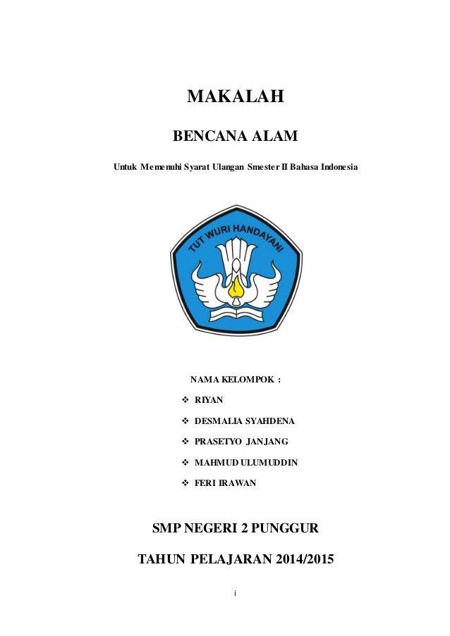 Contoh Cover Karya Ilmiah
