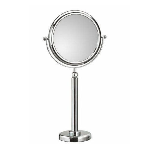 Discolo Polished Chrome Free Standing Telescopic Magnifying Makeup Mirror w/ 6X Magnification