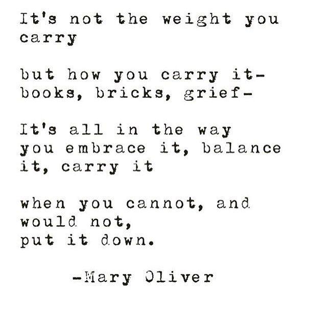 from Mary Oliver via @shopbird