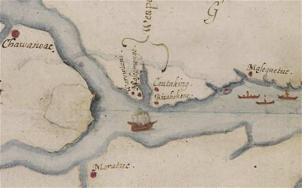 Ancient map gives clue to fate of 'Lost Colony' A new look at a 425-year-old map has yielded a tantalising clue about the fate of the Lost Colony, the settlers who disappeared from Britain's Roanoke Island in the late 16th century.