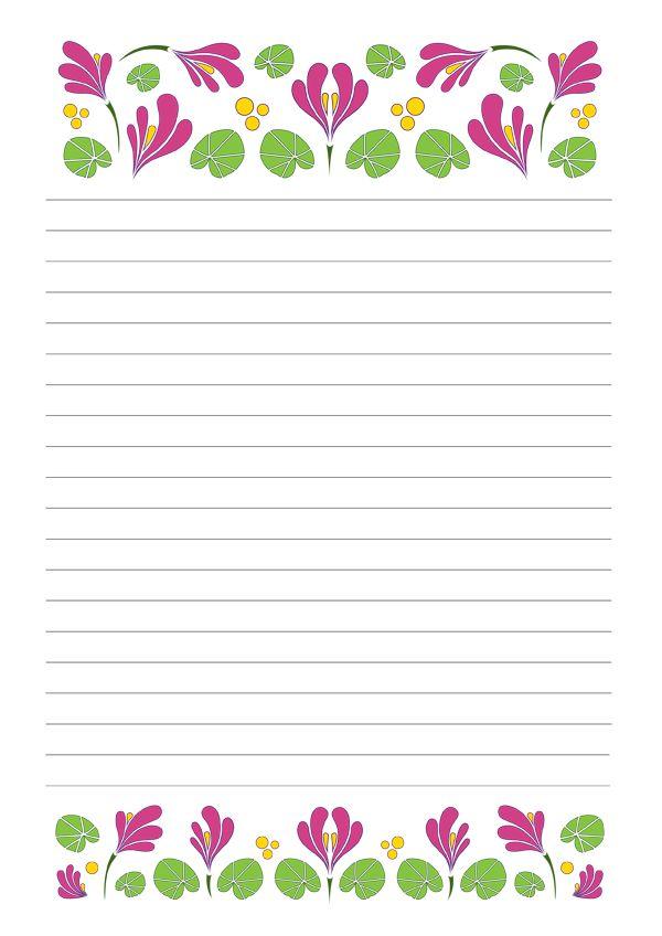 Márciusi levélpapír - March printable letterpaper