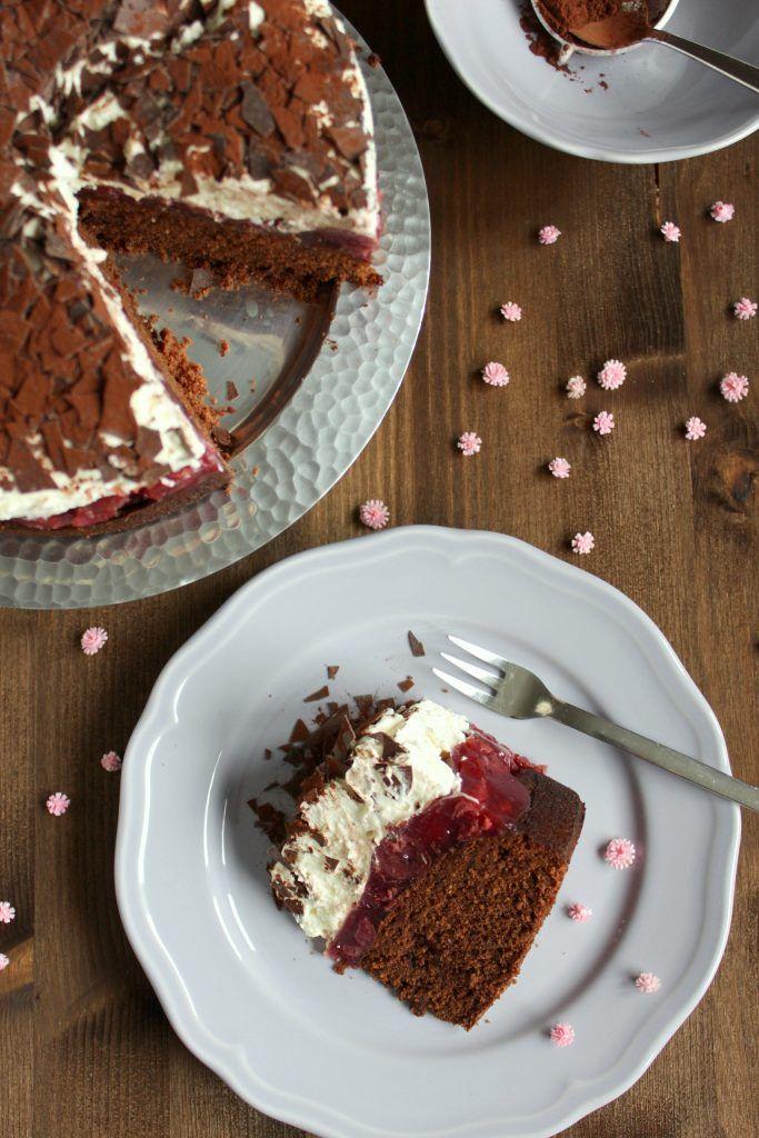 Haselnuss Kirsch Kuchen Schokokasekuchen Kuchen Kuchen