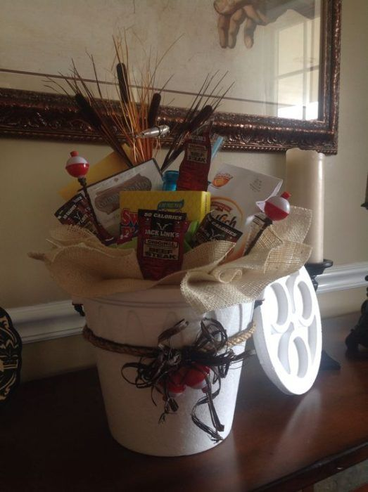 Fishing Gift Basket      Is your guy's favorite thing a day on the lake or on the ocean, fishing? Lure him in with a fishing fish gift basket.