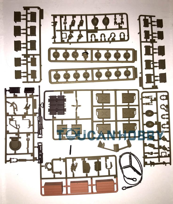 HengLong 1/16 US Pershing M26 RC Tank Spare Plastic Accessories Parts 3838
