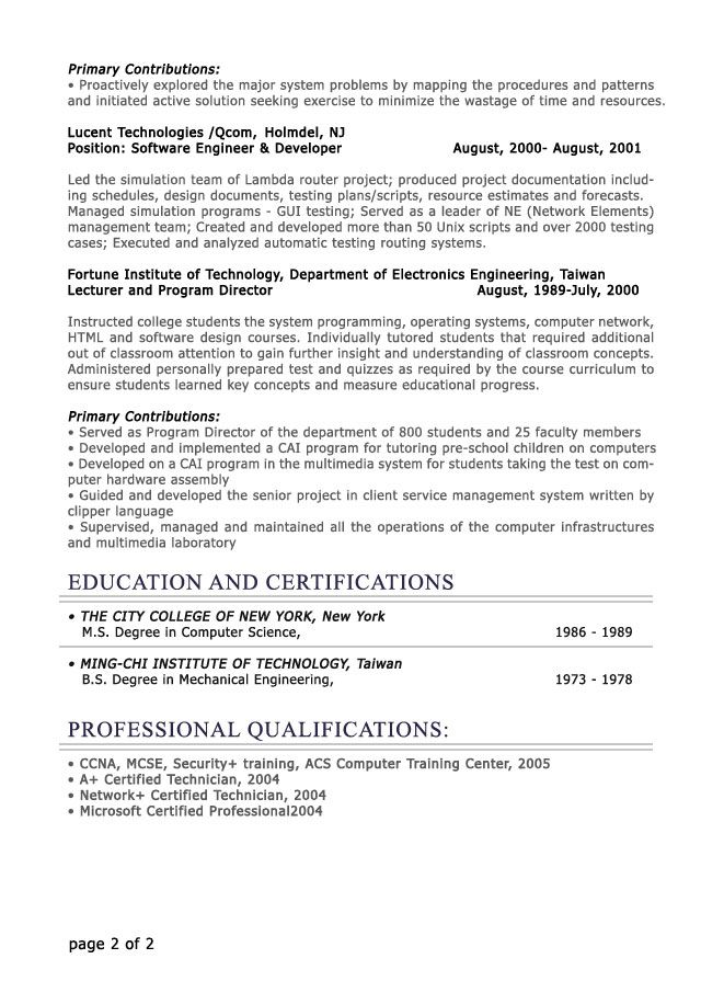 Example It Resume Resume Examples Sales Manager Resume Template Key  Strengths .  It Resume Example