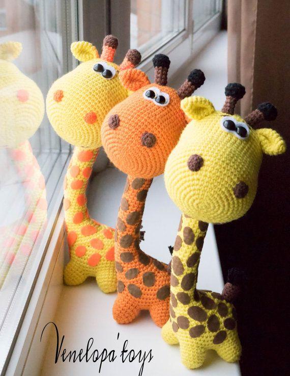 Crochet patrones, jirafa, jirafa ganchillo patrón Amigurumi patrón del ganchillo del patrón de los animales