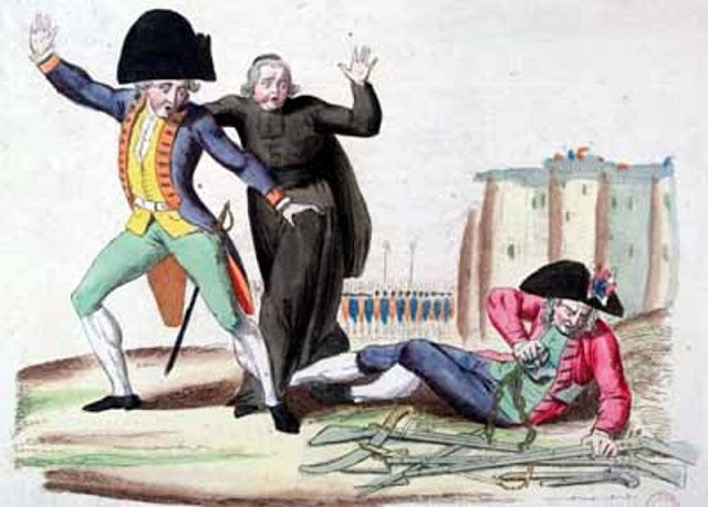... French Revolution.: Graphic Design, C 18Th 19Th Caricature, Man French Revolution Estates System