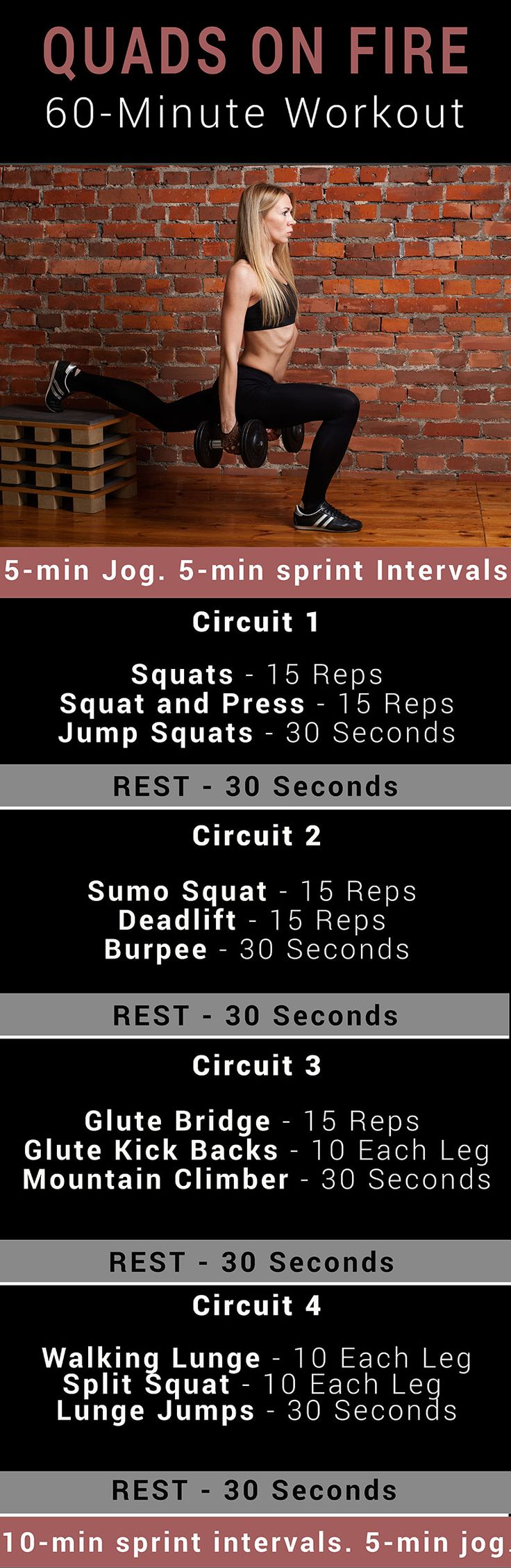 60 minutes quad workout