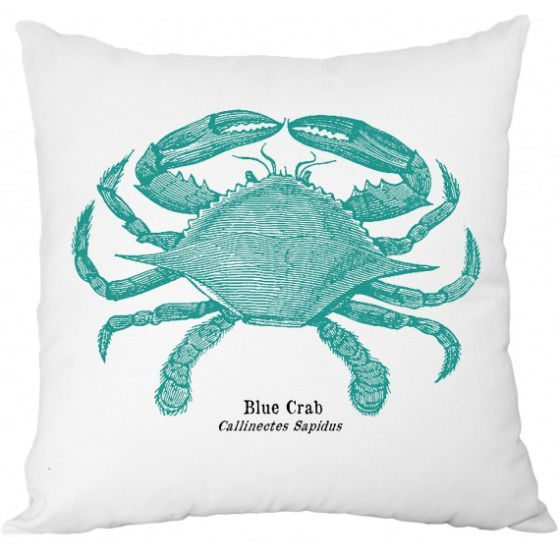 Poduszka niebieski krab 43x43
