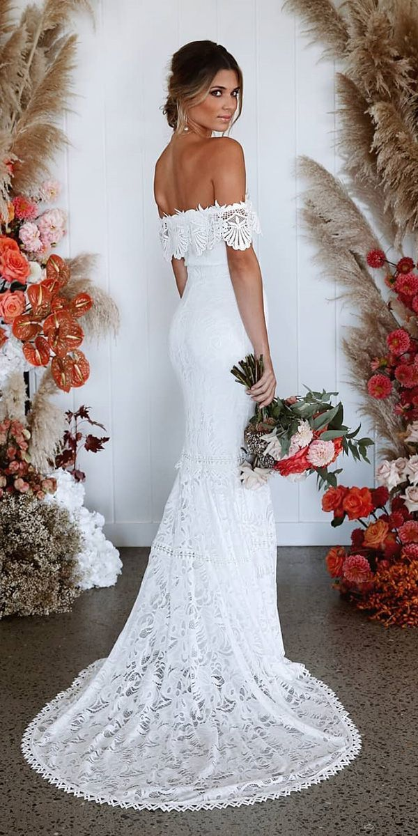 24 lace boho wedding dresses