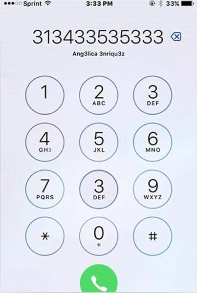 Picture Puzzle: How Many 3s Can You See On Mobile Dialing Pad