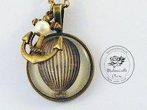 Halskette Fesselballon bronze