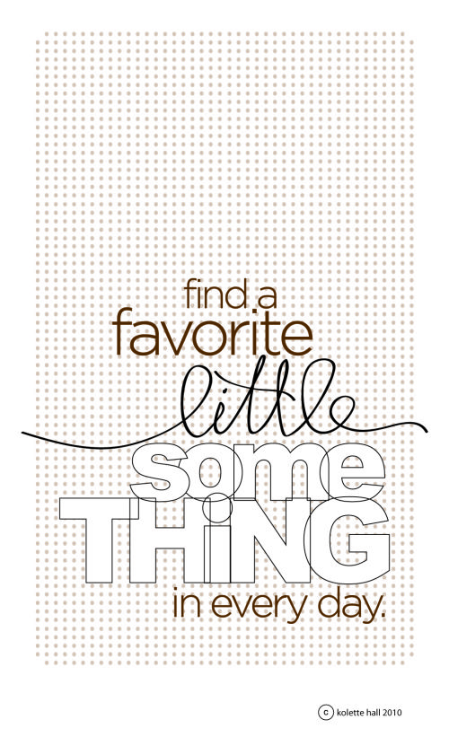 Free Find a Favorite Little Something Printable