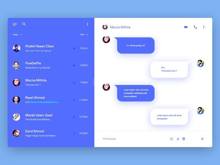 Chat Module Rebound - via @designhuntapp