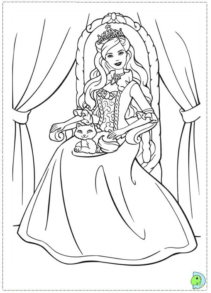 Pin By Pamela Wunderlich On Barbie Coloring Barbie Coloring Barbie Coloring Pages Disney Princess Coloring Pages