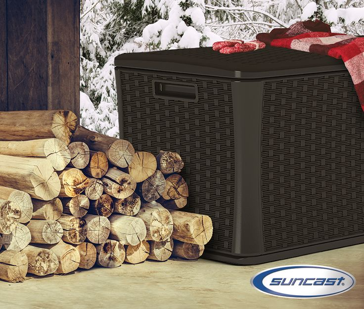 This durable deck box is ideal for storing firewood for future chestnut roasting.