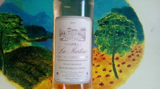 Château La Martine Rosé de l'AOC Côteaux Varois en Provence; had this in France and really liked it...