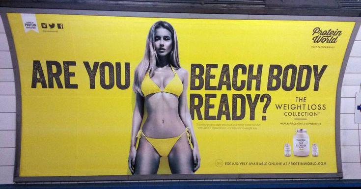 Anuncio en el metro de Londres. El alcalde Sadiq Khan quiere evitar la influencia perniciosa de la publicidad que promueven un imagen poco realista del cuerpo humano