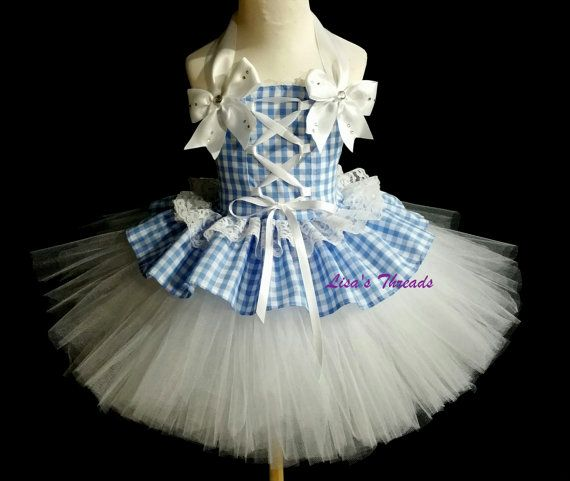 Dorothy Costume 2 (CHRISTMAS ORDERS available) Halloween Costume, girls photo drop, Dorothy birthday dress