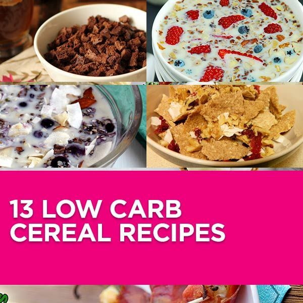 Low Carb Planner, Low Carb Cereal