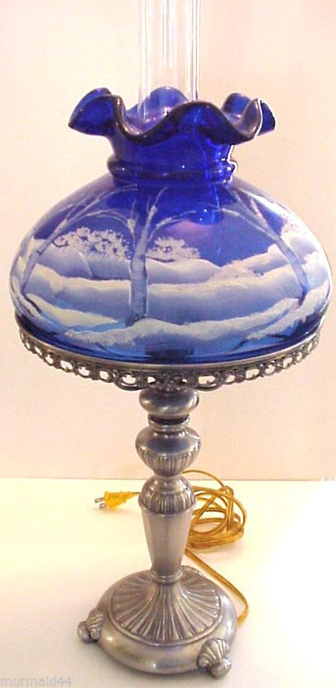 411 Best Fenton Lamps Images On Pinterest Fenton Lamps