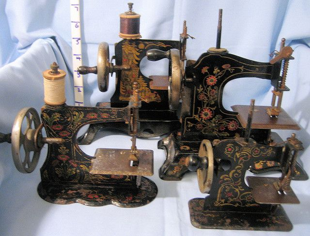 several decorative sewing machines