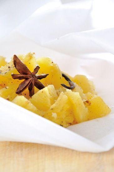 Papillote d'ananas aux épices : la recette facile
