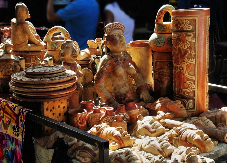 Twice-weekly you can find beautiful market in Chichicastenango where vendors sell handicrafts, food, flowers, pottery, medicinal plants and much more