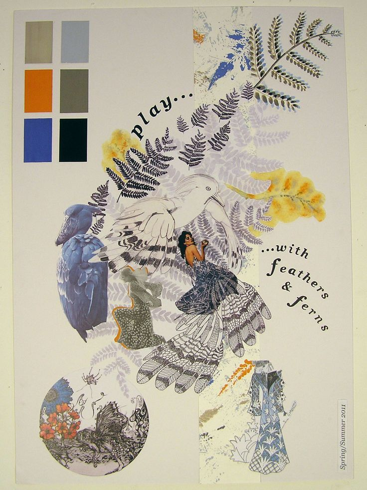 birtwell-paper-dress-mood-board. The mood board and choice of colour palette set the tone for the project. (toweraridley, 2013)
