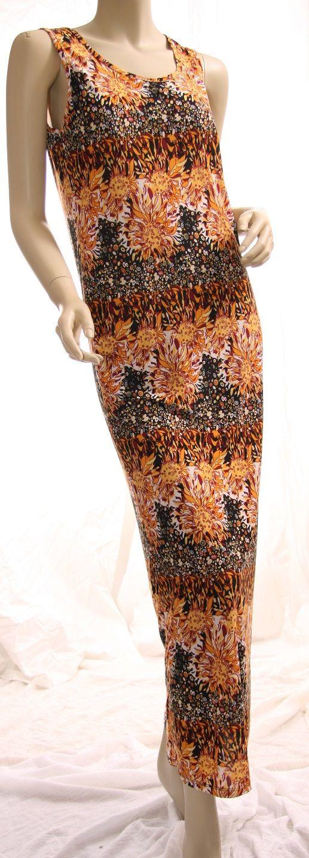 dress maxi orange