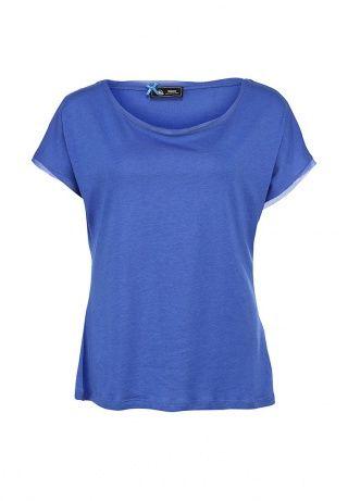 Лаконичная футболка от Sinequanone выполнена из мягкого трикотажа синего цвета. Детали: свободный крой, круглый вырез, шифоновый кант. http://j.mp/1rQm9xT
