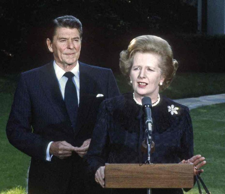 Ronald Reagan and Margaret Thatcher at the White House.