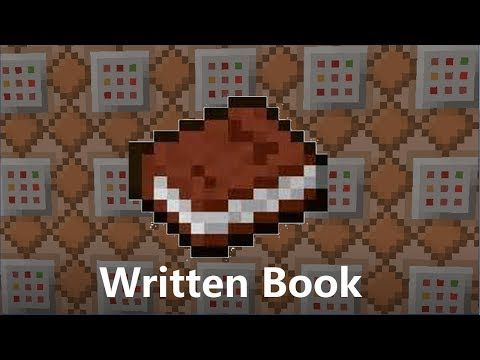 /give Written Books - Minecraft Tutorial (command in description) - YouTube
