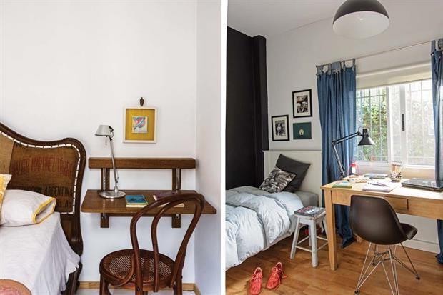 7 propuestas para renovar tu espacio de trabajo. Izquierda: una simple silla junto a la mesa de luz puede convertir ese lugar en un rincón aun más privado, más nuestro. Práctico para anotar esas cosas que se nos ocurren cuando recién nos levantamos o justo antes de irnos a dormir, o bien organizar las tareas del día en cinco minutos, y en pijama. Derecha: sencillito y al pie, la clave de este espacio de estudio en el dormitorio está en los detalles: la lámpara con morsa fijada de modo tal…