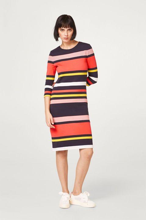 726aff88b94be5 Esprit - - Kleurrijk gestreepte jurk van geribde jersey kopen in de online  shop