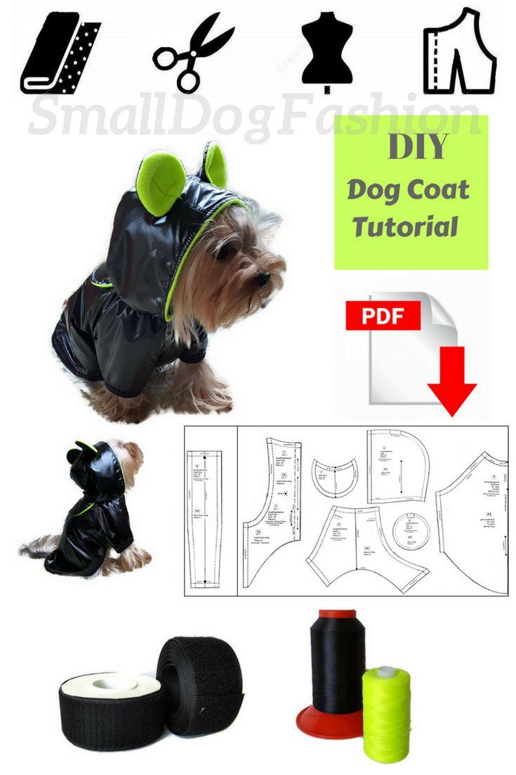 PDF dog clothes patterns Coat pattern for dog DIY dog clothes Coat DIY for dog Small dog clothes Pattern for small dog waterproof coat #diy #dogclothes #dogclothespattern #sewingpattern #sewingprojects  #waterproofcoat #smalldog #smalldogclothes #etsyfinds